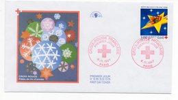 FDC France 1997 - Croix Rouge 1997 : Ourson En Peluche Aux Commandes D'une étoile  YT 3122 - Paris - FDC