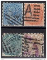 Inde Anglaise N° 19, 22, 27, 30 - 1858-79 Compagnia Delle Indie E Regno Della Regina
