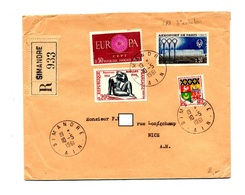 Lettre Recommandée Simandre Sur Europa Aeroport Maillol - Marcophilie (Lettres)
