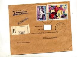 Lettre Recommandée Joinville Sur Fresnay - Marcophilie (Lettres)