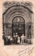 CPA - LEHON - Environs De DINAN - PORTAIL De L'EGLISE ABBATIALE ... - Edition F.M. - Dinan
