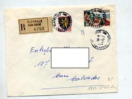 Lettre Recommandée Blainville Sur Touquet - Marcophilie (Lettres)
