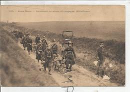 Armée Belge.  Carabiniers En Service De Campagne. Mitrailleuse Et Chiens. - Manoeuvres