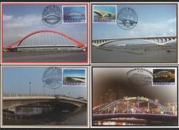 Taiwan R.O,China- Maximum Card –Bridges Of Taiwan (4V) 2010 - 1945-... République De Chine