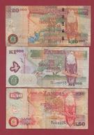 Zambie 3 Billets Dans L 'état Lot N °1----(189) - Zambie
