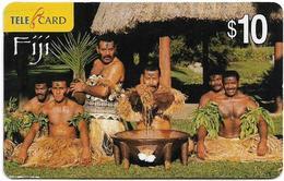Fiji - Telecom Fiji - Fiji Style, Yaqona Ceremony, Cn.04101, Remote Mem. 10$, Used - Fiji