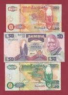 Zambie 3 Billets Dans L 'état Lot N °2----(190) - Zambie