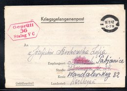 KRIEGSGEFANGENENPOST NAZI GERMANY THIRD REICH WW2 FROM PRISONER WAR POW CAMP STALAG VC WILDBERG TO PABIANICE GG - Gevangenkampen