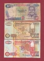 Zambie 3 Billets Dans L 'état Lot N °3----(191) - Zambie