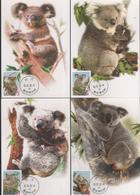 Taiwan R.O,China- Maximum Card –Cute Animal Series —Koala Bear (4V) 2002 - 1945-... République De Chine