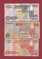 Zambie 3 Billets Dans L 'état Lot N °4----(192) - Zambie
