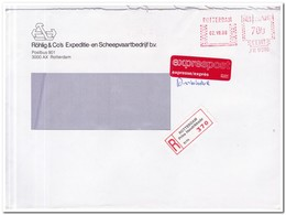 Aangetekende Brief Exprespost 1986 Rotterdam ( Prins Hendrikkade ) Röhlings & Co Exp. En Scheepvaartbedrijf - Period 1980-... (Beatrix)
