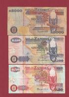 Zambie 3 Billets Dans L 'état Lot N °5----(193) - Zambie