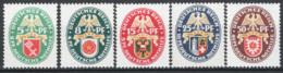 Germania Reich 1929 Unif. 421/25 **/MNH VF/F - Nuovi