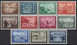 Germania Reich 1939 Unif. 640/42,644/51 **/MNH VF/F - Unused Stamps