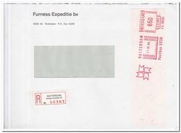 Aangetekende Brief 1986 Rotterdam ( Furness Expeditie Bv ) Furness Expeditie Bv - Period 1980-... (Beatrix)