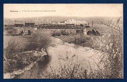 Melreux. L'Ourthe Et Le Pont Du Chemin De Fer. Locomotive à Vapeur. 1928 - Hotton