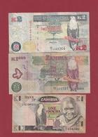 Zambie 3 Billets Dans L 'état Lot N °8----(196) - Zambie