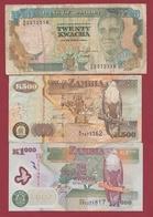 Zambie 3 Billets Dans L 'état Lot N °10----(198) - Zambie