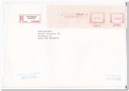 Aangetekende Brief 1986 Rotterdam Naar Boxmeer ( Lepelaarsingel ) Dijfo - Period 1980-... (Beatrix)