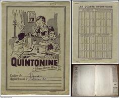 Ancien Protege Cahier QUINTONINE - Limonades