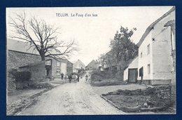 Tellin. Rue Du Fouy D'en Bas. Paysans, Attelage De Boeufs. - Tellin