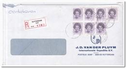 Aangetekende Brief 1986 Rotterdam ( Zuid ), J.D. Van Der Pluym Int. Expeditie Bv - Period 1980-... (Beatrix)