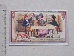CHROMO Didactique AU PLANTEUR De CAIFFA: CHOUCROUTE GARNIE Série CONSERVES De MENAGE - Recette Au Verso VERGER - Trade Cards