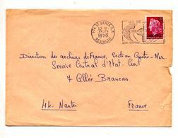 Lettre Flamme Saint Denis Theatre Sur Cheffer CFA - Isola Di Rèunion (1852-1975)