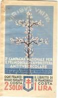 """ERINNOFILI - TEMATICA >SALUTE - 2° CAMPAGNA ANTITUBERCOLARE - 1932 - LIBRETTO """"COLLI ESPRESSI FERROVIARI""""- RR - Malattie"""