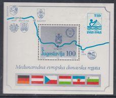 Yougoslavie BF N° 25 XX 30 è Anniversaire De La Régate International Sur Le Danube, Le  Bloc  Sans Charnière, TB - Blocs-feuillets