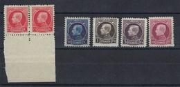 """5 Valeurs """"petit Montenez"""" Neufs Sans Charnière, Belle Occasion - 1921-1925 Small Montenez"""
