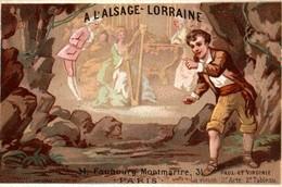 CHROMO A L'ALSACE LORRAINE A PARIS PAUL ET VIRGINIE - Altri