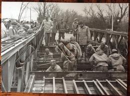 1975 PREMARIACCO  Genio Militare Costruzione Ponte Sul Fiume Natisone  / Udine - Guerra, Militari