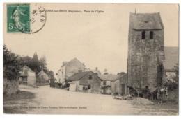 CPA 53 - SAINT-PIERRE-SUR-ERVE (Mayenne) - 543. Place De L'Eglise - Ed. Pavy-Legeard - Frankrijk
