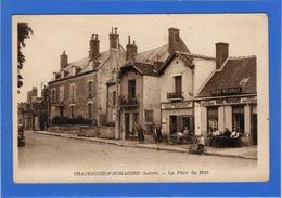 45 LOIRET - CHATEAUNEUF SUR LOIRE La Place Du Port (voir Descriptif) - Frankreich