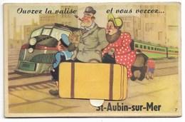14-ST-AUBIN-SUR-MER-Carte Système 10 Vues Dépliables... - Saint Aubin
