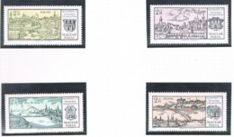"""UNGHERIA (HUNGARY) - SG 2572.2575 - 1971 """"BUDAPEST 71"""" INT. STAMP EXN.: VIEWS (COMPLET SET OF 4)  -  MINT** - RIF.CP - Nuovi"""