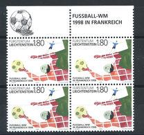 """Liechtenstein - N°1112 ** (MNH) 1998 - Football """"France'98"""" - Neufs"""