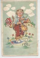 Enfant Multi-instrumentiste. Tambour, Trompette, Mandoline. - Szenen & Landschaften