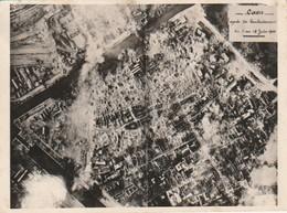 """CAEN - Rare Photo Aérienne 1944 - """"après Les Bombardements Du 6 Au 12 Juin 1944""""  - 2 Scan - Caen"""