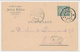 Firma Briefkaart Veghel 1902 - Stoomzuivel - 1891-1948 (Wilhelmine)