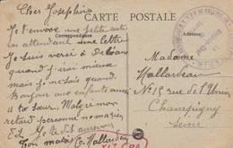 """NANTES - Cachet """"11ième Section De C.O.A  INFIRMERIE """" Sur Cpa  Entrée Du Chateau - Poststempel (Briefe)"""