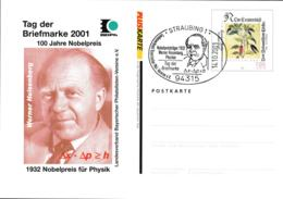 Germany PlusKarte Flowers W/print Tag Der Briefmarke - Used (G109-38) - Postales Ilustrados - Usados