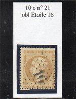 Paris - N° 21 Obl étoile 16 - 1862 Napoleon III