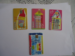 Télécarte  Lot De 4 ( Dessins D'enfants N°1,2,3,7) 500 000 Ex - Télécartes