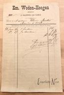 Rare Facture Du Brasseur Emile Wodon-Hoogen 30 Juin 1879 à Salzinnes-Lez-Namur - 1800 – 1899