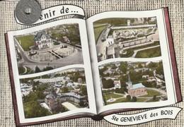 91 - Très Belle Carte Postale Semi Moderne Dentelée De  SAINTE GENEVIEVE DES BOIS   Multi Vue Aérienne - Sainte Genevieve Des Bois