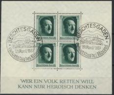 Deutsches Reich Block 7 O Sonderstempel Stark Formatverkleinert - Deutschland