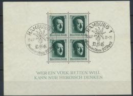 Deutsches Reich Block 7 O Sonderstempel Hamburg - Duitsland